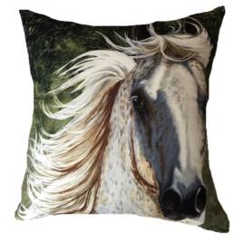 Almofada cavalo<br> tordilho