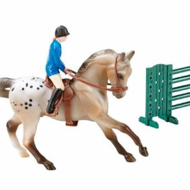 .Kit Stablemates Horse and Riders <br> Apaloosa Salto