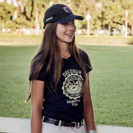 Camiseta Feminina Dressur<br> estampa brasão