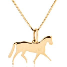 Pingente Cavalo <br> ouro 18k