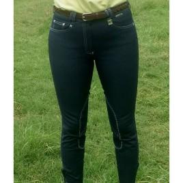 Culote jeans costura branca<br>Dressur by Cavallus
