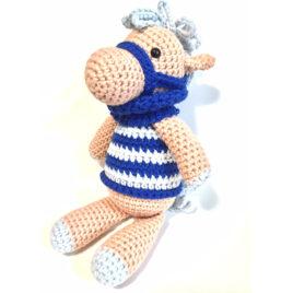 Cavalinho Azul<br> Amigurumi – Crochê